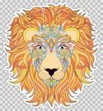 Kleurrijk hoofd van leeuw Stock Foto