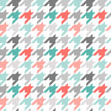 Kleurrijk Houndstooth naadloos patroon, Stock Fotografie