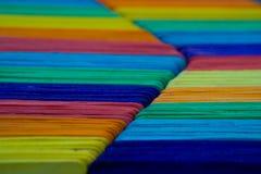 Kleurrijk hout Stock Afbeelding