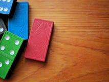Kleurrijk Houten Toy Dominoes Game Royalty-vrije Stock Fotografie