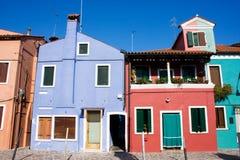 Kleurrijk Huis stock afbeeldingen