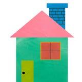 Kleurrijk huis gemaakt tot vormklei Royalty-vrije Stock Afbeelding