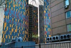 Kleurrijk huis in Moskou Stock Afbeeldingen