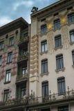 Kleurrijk huis in Naschmarkt Stock Foto