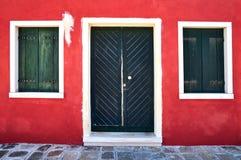 Kleurrijk huis op Burano-eiland, Venetië, Italië Stock Fotografie