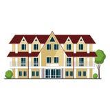 Kleurrijk Huis Vlakke stijl moderne gebouwen Vector illustratie stock illustratie