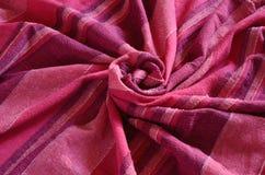 Kleurrijk Indisch gestreept materiaal Stock Foto