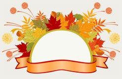 Kleurrijk kader met de herfstbladeren Stock Foto's