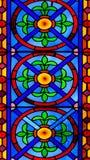 Kleurrijk Kerkgebrandschilderd glas tegen Licht in de Metropolitaanse Kathedraalbasiliek van de Veronderstelling van Onze Dame va Stock Fotografie