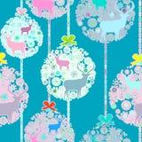 Kleurrijk Kerstmis naadloos patroon. EPS 8 Stock Fotografie