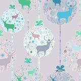 Kleurrijk Kerstmis naadloos patroon. EPS 8 Stock Afbeeldingen