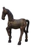 Kleurrijk klein houten paard stock afbeelding