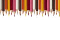 Kleurrijk kleurpotlood als witte achtergrond Royalty-vrije Stock Fotografie