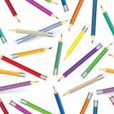 Kleurrijk kleurpotloodpatroon Naadloze multicolored potloden als achtergrond Royalty-vrije Stock Afbeelding