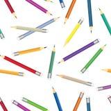 Kleurrijk kleurpotloodpatroon Naadloze multicolored potloden als achtergrond Royalty-vrije Stock Fotografie