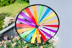 Kleurrijk kleurrijk vuurrad Royalty-vrije Stock Foto