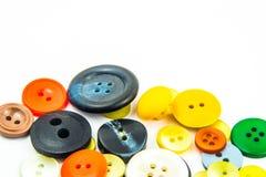 Kleurrijk knopenkader Stock Afbeelding
