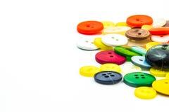 Kleurrijk knopenkader Stock Afbeeldingen