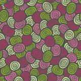 Kleurrijk krabbel retro naadloos patroon Stock Afbeelding