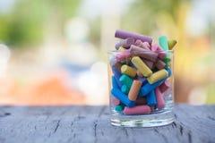 Kleurrijk krijt Stock Foto's