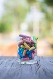 Kleurrijk krijt Stock Foto
