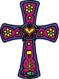 Kleurrijk Kruis Stock Foto