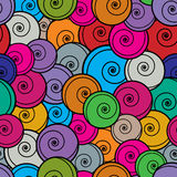 Kleurrijk krullen naadloos patroon Royalty-vrije Stock Foto