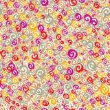 Kleurrijk krullen naadloos patroon Stock Afbeelding