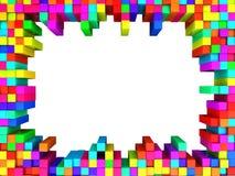 Kleurrijk kubussenkader Stock Foto