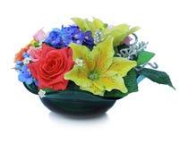 Kleurrijk Kunstmatig Bloemstuk Royalty-vrije Stock Foto