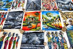 Kleurrijk kunstwerk voor verkoop royalty-vrije stock foto