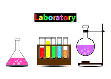 Kleurrijk laboratorium Stock Fotografie