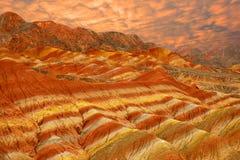 Kleurrijk land Stock Foto's