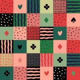 Kleurrijk lapwerk naadloos patroon Royalty-vrije Stock Fotografie