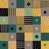 Kleurrijk lapwerk naadloos patroon Stock Afbeelding