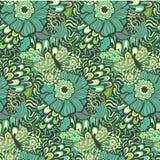 Kleurrijk levendig vector naadloos abstract hand-drawn patroon stock illustratie