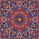 Kleurrijk mandala vector etnisch stammenpatroon Royalty-vrije Stock Afbeelding