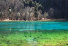 Kleurrijk meer Stock Foto