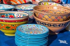 Kleurrijk met de hand gemaakt ceramisch aardewerk Stock Afbeelding
