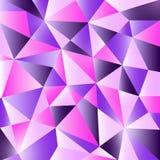 Kleurrijk modern geometrisch abstract patroon In heldere purpere violette kleuren Mooie roze blauwe ontwerpachtergrond in Royalty-vrije Stock Foto's
