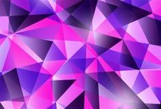 Kleurrijk modern geometrisch abstract patroon In heldere purpere violette kleuren Mooie roze blauwe ontwerpachtergrond in Royalty-vrije Stock Afbeelding