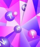 Kleurrijk modern geometrisch abstract patroon of mozaïek in in heldere purpere violette kleuren Mooi roze blauw ontwerp vector illustratie