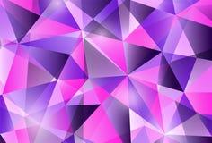 Kleurrijk modern horizontaal geometrisch abstract patroon in in heldere purpere violette kleuren Mooi roze blauw ontwerp Royalty-vrije Stock Fotografie