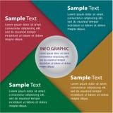 Kleurrijk modern tekstvakje malplaatje Stock Afbeelding