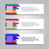 kleurrijk modern tekstvakje malplaatje voor de grafische technologie van de websitecomputer en Internet, aantallen royalty-vrije illustratie