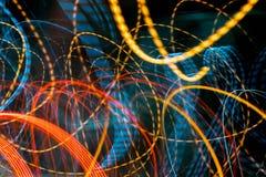 Kleurrijk motieonduidelijk beeld van het verkeerslicht Royalty-vrije Stock Afbeelding