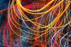 Kleurrijk motieonduidelijk beeld van het verkeerslicht Stock Afbeelding