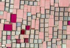 Kleurrijk mozaïek op de muur, abstracte glasachtergrond Stock Afbeelding