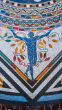 Kleurrijk mozaïek op de vloer van de Musea van Vatikaan Royalty-vrije Stock Foto's