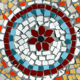 Kleurrijk muurmozaïek in de vorm van een cirkel Stock Afbeeldingen